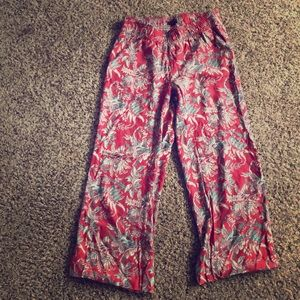 Ann Taylor Flowy Red pants - Small